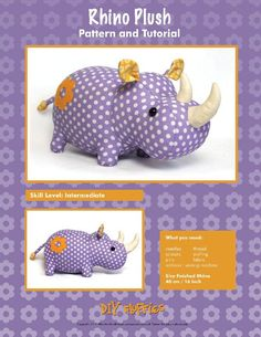 Rhino Plush - PDF Accessory Pattern