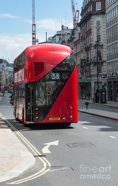 New Routemaster Buses ~~ London, England (The original Routemaster buses were withdrawn from regular service in 2005.)