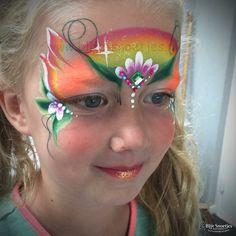 Rainbow fairy girl.....she was so sweet.... www.blije-snoetjes.nl www.facebook.com/BlijeSnoetjesKinderschmink