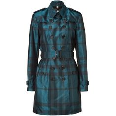 Burberry Raincoats and trench coats for Women Trench Coat Sale, Belted Coat, Plaid Coat, Kinds Of Clothes, Clothes For Women, Burberry Plaid, Blue Coats, Blue Check, Coats For Women