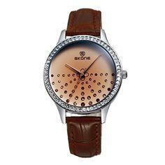 LDUW050C Luxury Round Wrist Watch Women Casual Women * Click image for more details.
