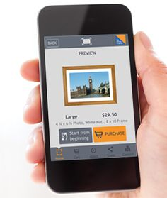 My Photo Framer sends real framed photos to family and friends right from your phone.