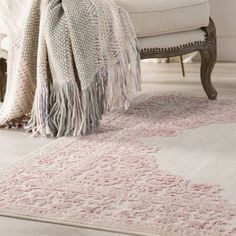 The Scandinavian decor is an excellent choice for small rooms and does not necessarily require a big budget. White Rug, White Area Rug, Pink White, Cream Nursery, Girl Nursery Rugs, Nursery Room, Blush Nursery, Nursery Furniture, Painted Fox Home