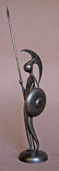 """""""Le petit grec"""" by French sculptor Jean-Pierre Augier."""