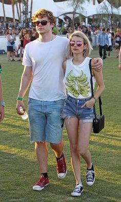 Emma Roberts and Evan Peters | Celebrities At Coachella, Week One