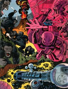 70s sci-fi art: The front and back cover of Jack Kirby's 2001: A...