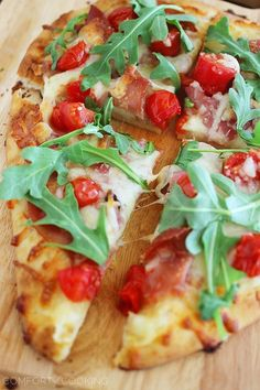The Comfort of Cooking » Proscuitto, Arugula and Tomato Naan Pizza