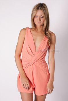 the valley playsuit - peach