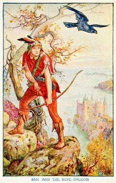 Ian and the Blue Falcon by H. J. Ford for Andrew Lang's The Orange Fairy Book - Andrew Lang's Fairy Books - Wikipedia, the free encyclopedia