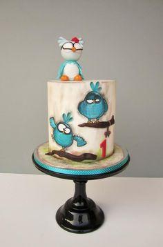 Owl cake by daruj tortu