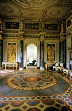 Syon House - London, England - interior. Robert Adam