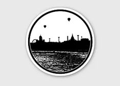 Helsinki sihouette sticker