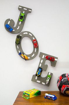 Kid's Craft Toy - Use Ordinary Craft Letters And Old Toy Car.-Kid's Craft Toy – Use Ordinary Craft Letters And Old Toy Cars To Make Playful Le… Kid's Craft Toy – Use Ordinary Craft Letters And Old Toy Cars To Make Playful Letter Art crafts - Letter A Crafts, Letter Art, Craft Letters, Kids Letters, Kids Crafts, Craft Kids, Craft Projects, Decor Crafts, Room Crafts