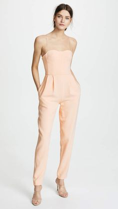 fcddbd9796a Adam Lippes Bustier Jumpsuit. A bustier bodice—complete with underwire cups  and boning—