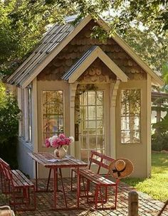 Shed DIY - Quaint potting house /garden shed Now You Can Build ANY Shed In A Weekend Even If You've Zero Woodworking Experience! Backyard Storage Sheds, Backyard Sheds, Outdoor Sheds, Shed Storage, Diy Storage, Outdoor Storage, Storage Ideas, Backyard Retreat, Smart Storage