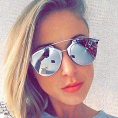 0671c0f8b51 HapiGOO Vintage Reflected Cat Eye Sunglasses Women Brand Designer Metal  Two-Beams Mirror Sun Glasses