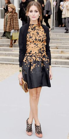 03/04/12: A splash of this year's hottest hue amped up Olivia Palermo's LBD.