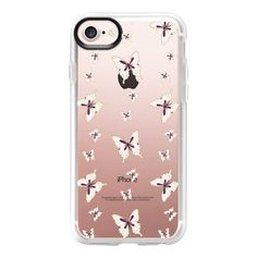 'the secret garden-Butterflies, transparent' by Lucia - iPhone 7 Case... (115.850 COP) ❤ liked on Polyvore featuring accessories, tech accessories, iphone case, apple iphone case, transparent iphone case, iphone cases, iphone cover case and clear iphone case