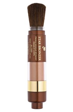 Sun-kissed bronzer and brush combined. Perfect for touch-ups on the go!
