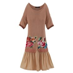 Two-in-one Kleid, Gestricktes Oberteil, Baumwolle Vorderansicht