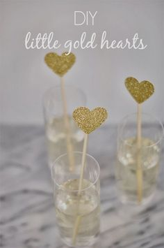 #DIY #Hearts of Gold | Little Gold Hearts. | Perfect for #Valentines_Day or any occasion