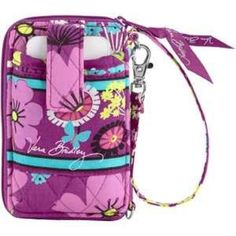 Vera Bradley flutterby wristlet Purple butterfly wristlet. Change pocket, credit card holders. Fits smaller phones (iPhone 4). Like new. Used about three times Vera Bradley Bags Clutches & Wristlets