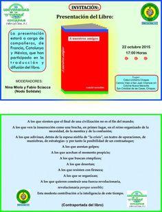 """22 oct, CIDECI-SCLC: Presentación del libro """"A nuestros amigos""""  En San Cristóbal de las Casas, Chiapas Cideci-Unitierra invita a la presentación del libro: """"A nuestros amigos"""" este jueves 22 de octubre:"""