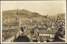 Freiburg 1921 - Ansicht von Freiburg aus dem Jahre 1921. Die Bertoldstraße von oben. Die Aufnahme müsste vom Dach des Theater entstanden sein. Vielen Dank für dieses Bild an unseren Facebook-Fan Michael Engl.   /*  */