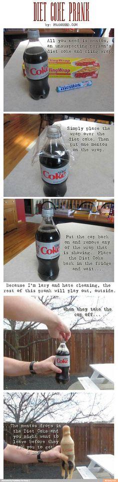 Diet Coke Prank
