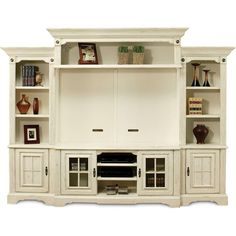Shop for a Highland Manor White 5 Pc Wall Unit at Rooms To Go. Find Wall Units that will look great in your home and complement the rest of your furniture. Entertainment Center Wall Unit, Home Entertainment, Entertainment Furniture, Entertainment Products, Media Wall Unit, Muebles Shabby Chic, New Wall, Great Rooms, Home Furniture