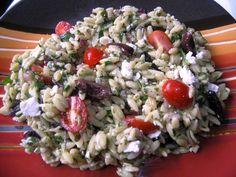 Greek Orzo spinach salad