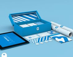 So in Love with this entire branding package. The blue(s), the use of white space, the font, everything!