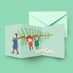 Christmas Card - folded card via Marloes De Vries Shop. Click on the image to see more!