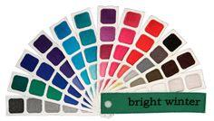 Bright Winter Color Swatch Book