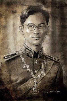 King of Thailand King Bhumipol, King Rama 9, King Of Kings, King Queen, King Thailand, King Painting, Queen Sirikit, King Power, Bhumibol Adulyadej