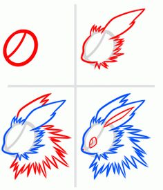 How to Draw Eeveelutions, Step by Step, Pokemon Characters, Anime, Draw Japanese Anime, Draw Manga, FREE Online Drawing Tutorial, Added by Dawn, August 26, 2013, 12:39:33 pm