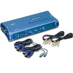 4-port PS2 KVM Switch Kit w/Au