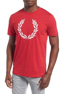Fred Perry Embroidered Laurel Wreath Crewneck T-Shirt