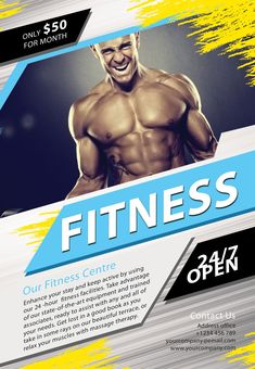 Free Sport Party PSD Flyer Template by styleflyers.com. This Free Fitness PSD…
