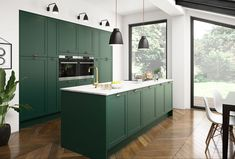 The best kitchen design ideas for your home in This expert trends round up reveals the latest modern kitchen ideas and contemporary kitchen trends from storage to two-tone kitchens. Kitchen Trends 2018, Kitchen Color Trends, Kitchen Colors, Colour Trends, Latest Kitchen Trends, Colour Schemes, Best Kitchen Design, Latest Kitchen Designs, Green Kitchen Cabinets