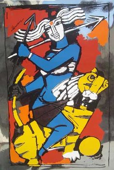 the controversial Durga painting of M F Hussain | Sulekha Creative