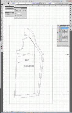 Using Adobe Illustrator for flat pattern drafting