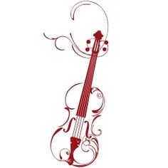 Violin Tattoo Designs | Wandtattoo Violine with my grampies initials as he is who taught me and he passed away.