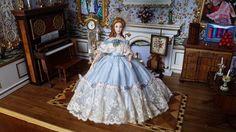 Miniature Dollhouse Artisan Porcelain Southern Belle Lady Doll Stacy Hofman   eBay