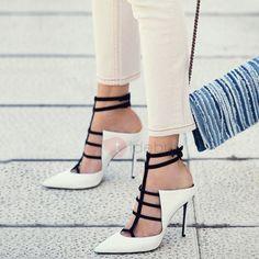 Color Block Closed Toe Heel Sandals
