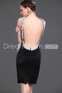 Buy Cheap Cheap Graceful Column Mini Halter Backless Appliques Cocktail Dresses SN100821 Default Category under $196.69 only in Udressprom.