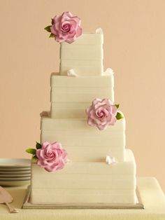 No matter if you prefer elegant, simple, or unique wedding cake designs you will be blown away by our list of amazing wedding cakes. Pretty Wedding Cakes, Square Wedding Cakes, Amazing Wedding Cakes, Elegant Wedding Cakes, Wedding Cake Designs, Pretty Cakes, Square Cakes, Buttercream Wedding Cake, Sugar Flowers