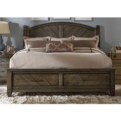 Shop for Modern Country Harvest Brown Storage Posterbed. Get free shipping at Overstock.com - Your Online Furniture Outlet Store! Get 5% in rewards with Club O!