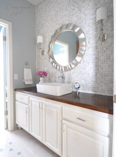 bathroom vanity wall makeover