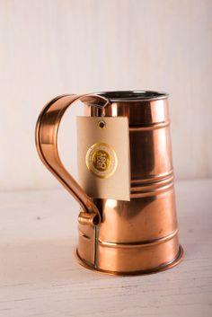 Ben Franklin Beer Stein on BourbonandBoots.com #copper #coppermug #copperstein